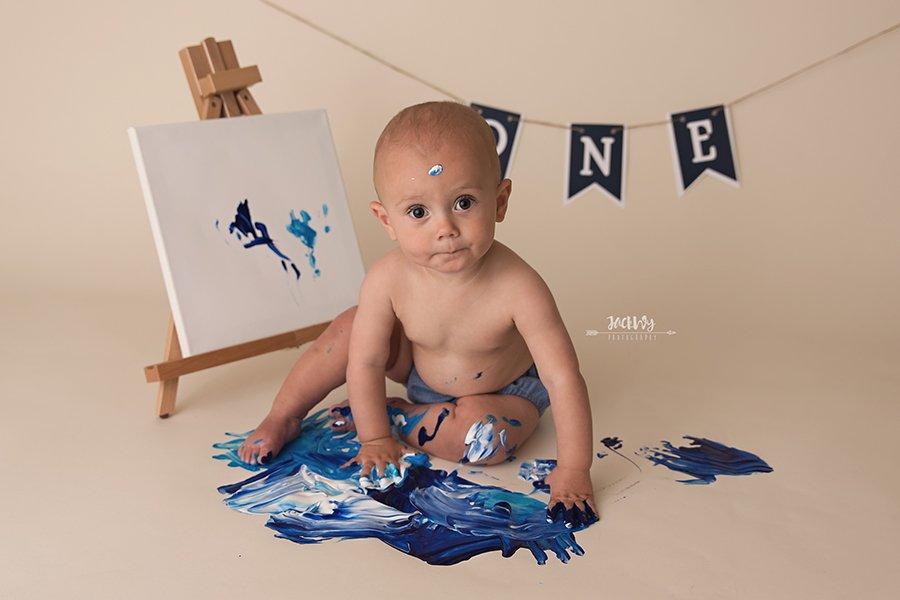 Braxton {1 year & paint}