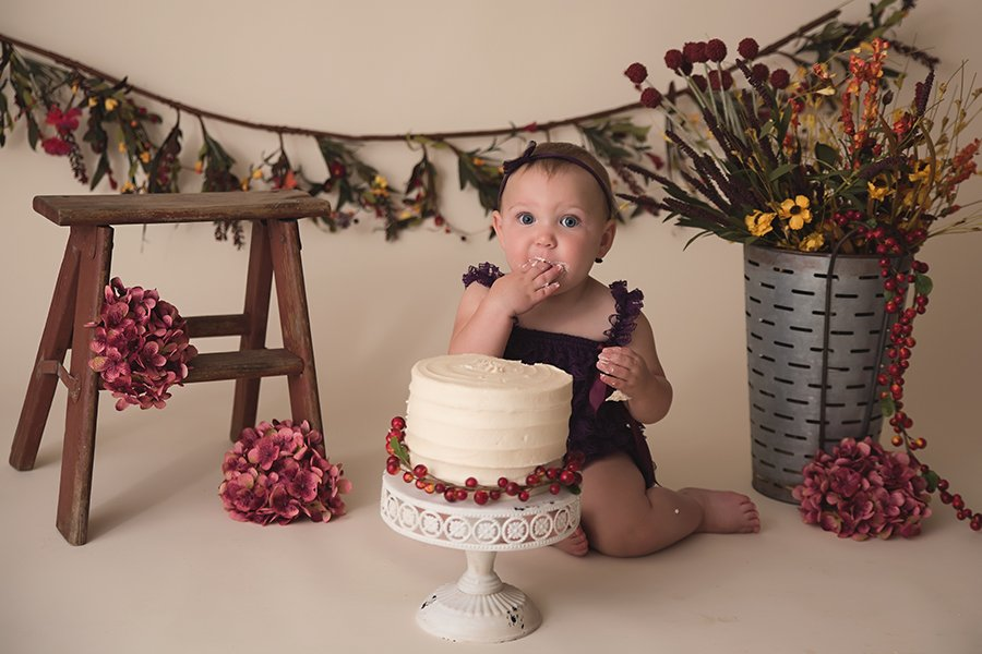 Raegan {1 year cake smash}
