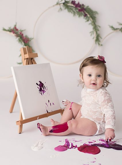 Amelia {1 year paint session}