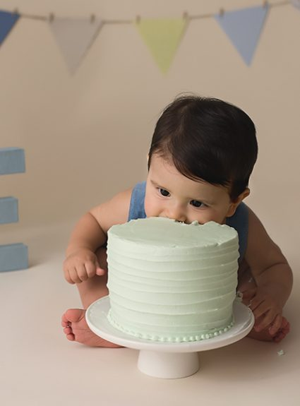 Caleb {1 year cake smash}