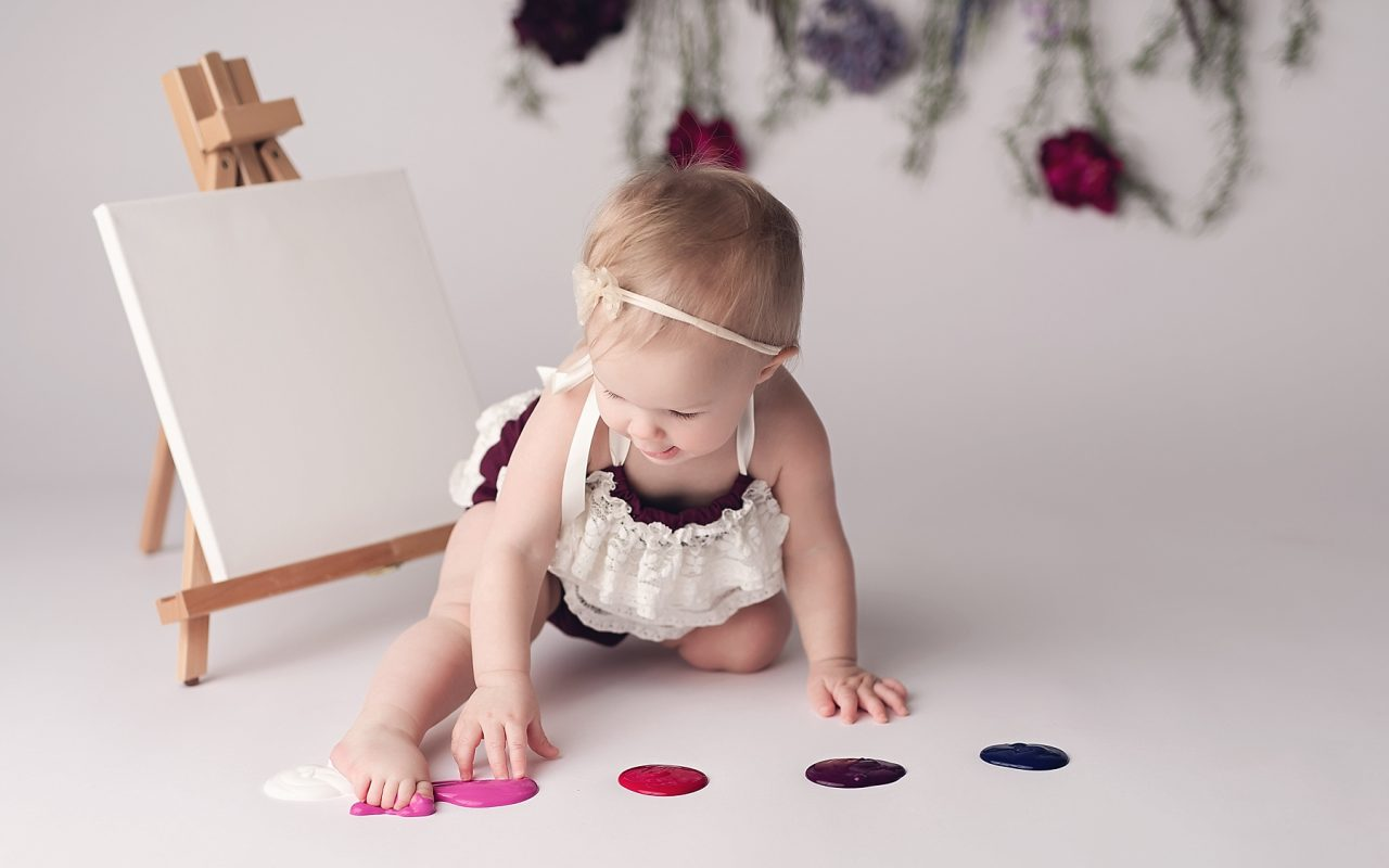 Sloane {one year & paint splash}