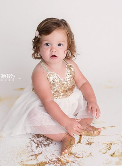 Clare {1 year glitter session}