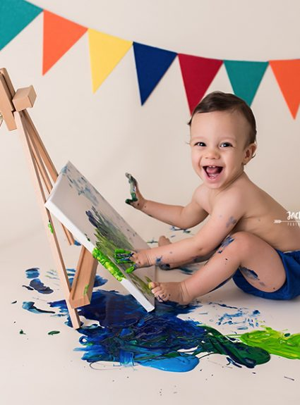 Maxwell {1 year & paint}