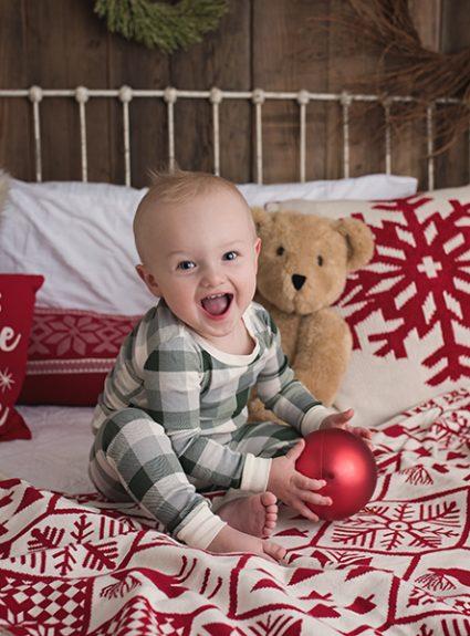 Miles {christmas PJ mini}