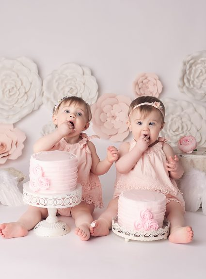 Lily & Helen {one year cake smash}